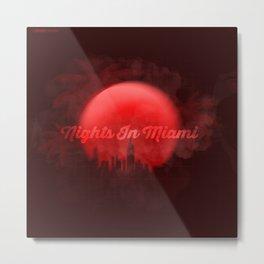 Nights in Miami Metal Print