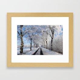 Winter-avenue Framed Art Print