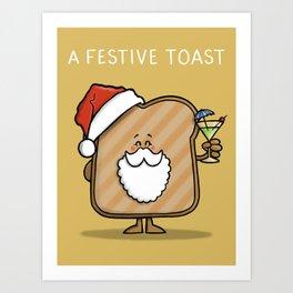 Festive Toast Art Print