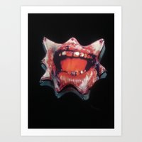 dentist Art Prints featuring Dentist Accident by Dangerous Dame
