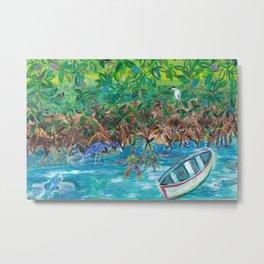 Island Mangroves Metal Print