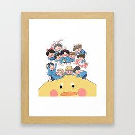 Baby Kindergarden Framed Art Print