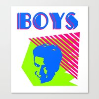 boys Canvas Prints featuring Boys by Two Penny Prince