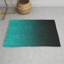 Aqua & Black Glitter Gradient Rug