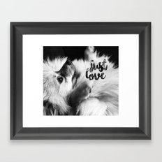 Just Love Pomeranian Framed Art Print