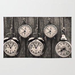 Vintage Clocks Rug