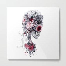 Skeleton Bride Metal Print