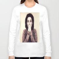 bjork Long Sleeve T-shirts featuring Mommie Bjork by Wanker & Wanker