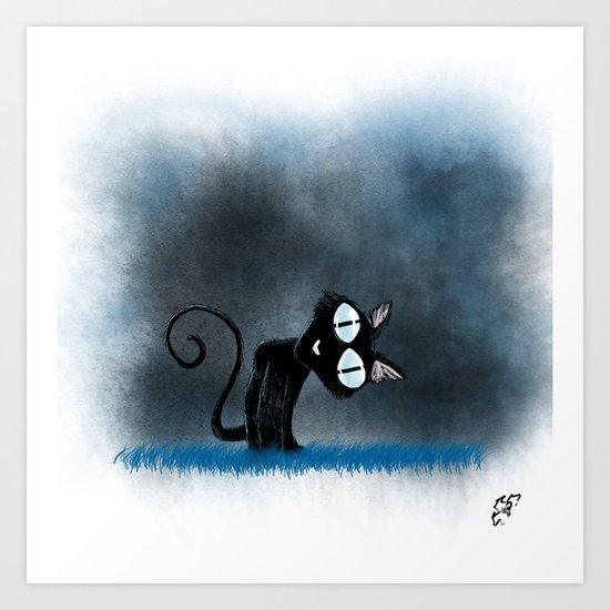 Coraline Wuss Puss Art Print By Hollydoesart Society6