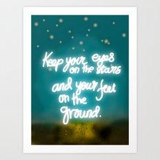 Keep Your Eyes Art Print