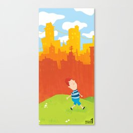 Living in the city  Canvas Print