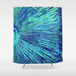blue half moon mushroom Shower Curtain