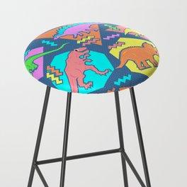 Nineties Dinosaur Pattern Bar Stool