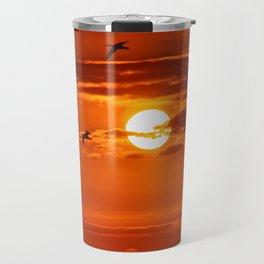 Red Sunset2 False Bay Travel Mug