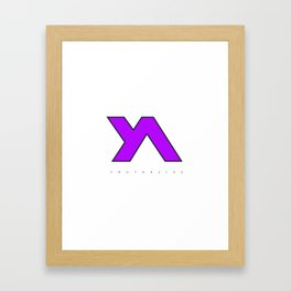 Youth Alive Purple & Black on White Framed Art Print
