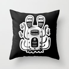 Rabbit Wormed (BW) Throw Pillow