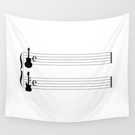 Guitar Music Wall Tapestry