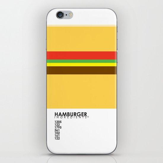 Pantone Food - Hamburger iPhone Skin