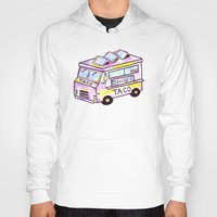 truck Hoodies featuring Taco Truck by Sabrina May
