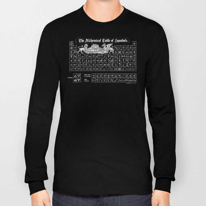 The Alchemical Table of Symbols Long Sleeve T-shirt