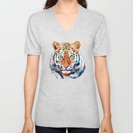 Tiger Head watercolor Unisex V-Neck