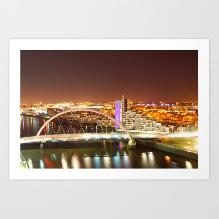 Clyde Arc Bridge. Art Print