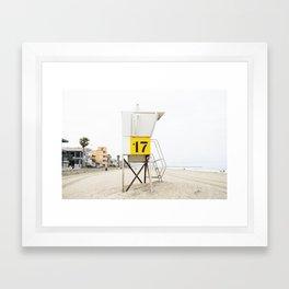 Beach Tower 17 Framed Art Print