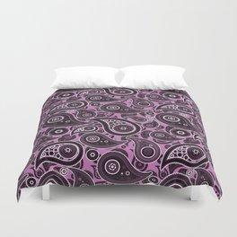 Orchid Purple Paisley Pattern Duvet Cover