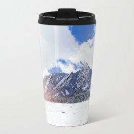 Flatirons in Snow Travel Mug
