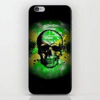 jamaica iPhone & iPod Skins featuring Jamaica circuit Skull. by seb mcnulty