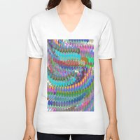 bubble V-neck T-shirts featuring bubble by gasponce