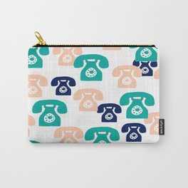 You rang? // 1950s Phone Pattern Carry-All Pouch