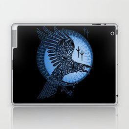 Viking Raven of Death - Blue Laptop & iPad Skin