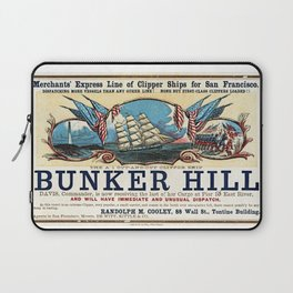 Bunker Hill Clipper Ship Card Laptop Sleeve