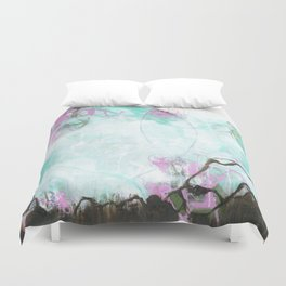 Crossroads - Square Abstract Expressionism Duvet Cover