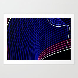 abstract blue lines Art Print