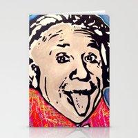 einstein Stationery Cards featuring Einstein by Paola Gonzalez