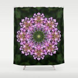 Constellation of Verbena flowers mandala Verbena bonariensis 1829 k2 Shower Curtain