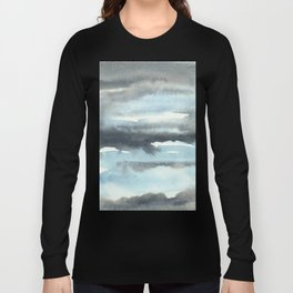 Cloud Cover Watercolor Minimalist Long Sleeve T-shirt