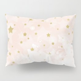 Gold stars on blush pink Pillow Sham