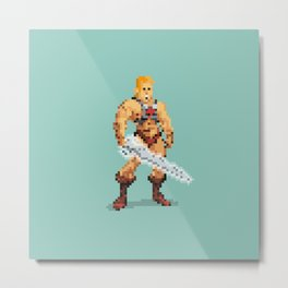 By The Power Of 8-Bit Metal Print