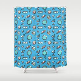 GEMSTONES Shower Curtain