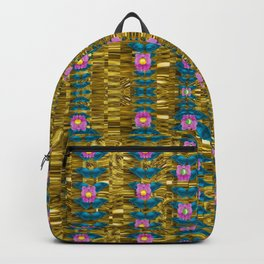 gold jungle and paradise liana flowers Backpack