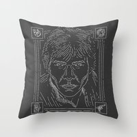 han solo Throw Pillows featuring Han Solo by Jon Deviny