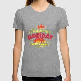 Christmas Holiday Merry & Bright yr T-shirt