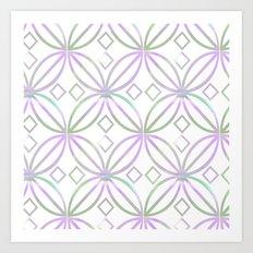 Floral Pattern - JUSTART © Art Print