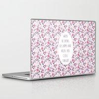 lyrics Laptop & iPad Skins featuring More Than This Lyrics by summergirl