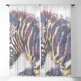 Zebra Sheer Curtain
