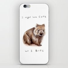 I might look cute, but I bite iPhone & iPod Skin