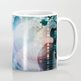 DNA Molecule Helix Science Abstract Background Art Coffee Mug